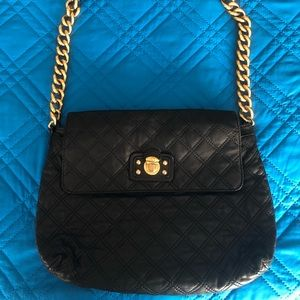 Marc Jacobs Quilted Gold Chain Black Leather Purse